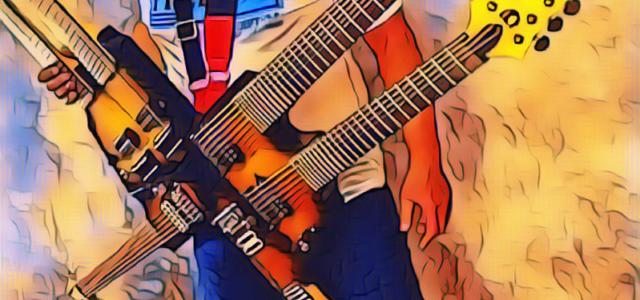 Mainkan 6 Neck Gitar, Puguh Kribo Hendak Pecahkan Rekor Guinness Book of Records